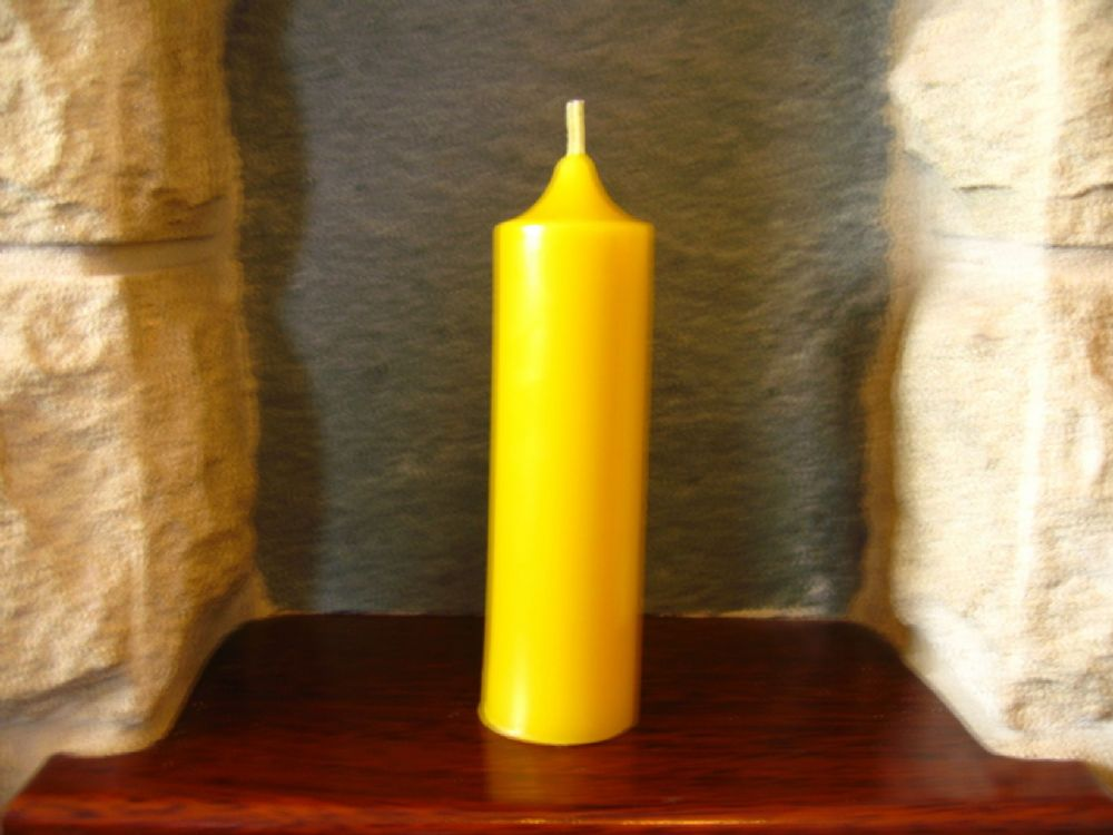 Handmade Pure Beeswax Church Candle 13.5cm x 3.7cm (Free Shipping UK)